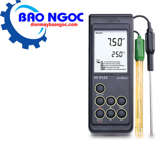Máy đo pH cầm tay Hanna HI9124