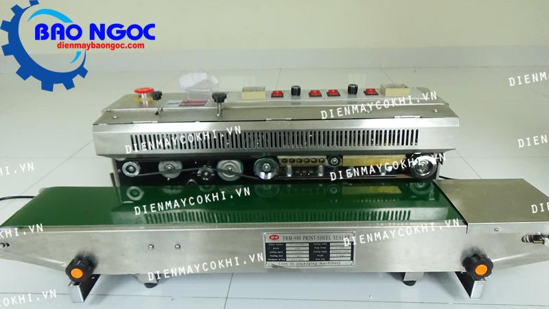 Máy hàn miệng túi liên tục có in date FRM 980 - Máy hàn miệng túi